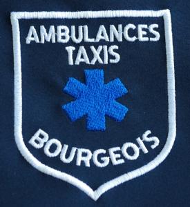 Logo brodé ambulances taxis
